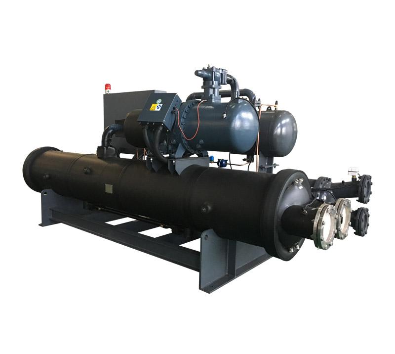 Water cooled screw chiller low temperature (-25C)