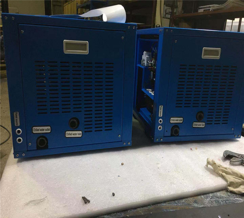 Sea water DC type mini air cooled type chiller